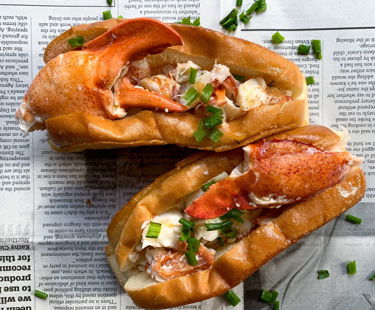 Lobster Rolls with Browned Tarragon Butter