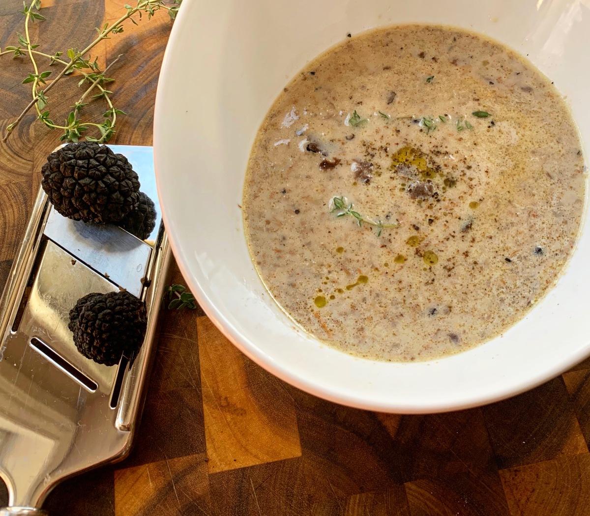 Creamy Truffle Mushroom Soup