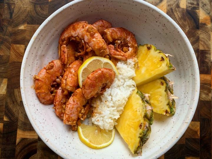 Hot and Spicy Firecracker Garlic Shrimp