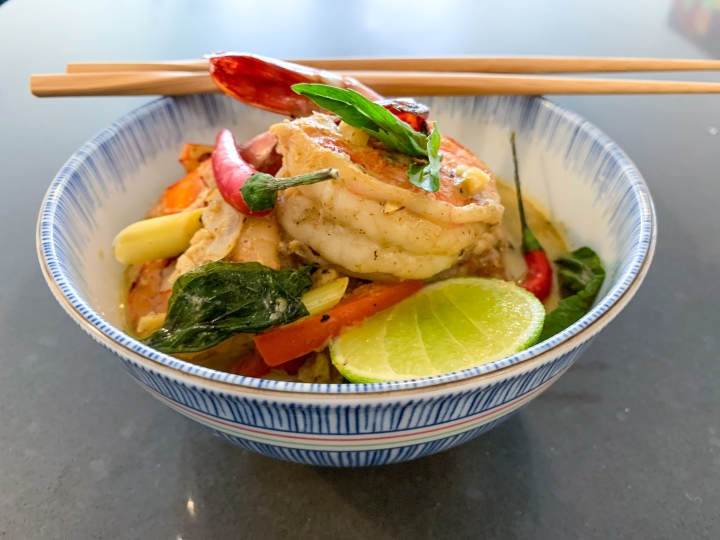 Tiger Prawn & Lemongrass Green Curry