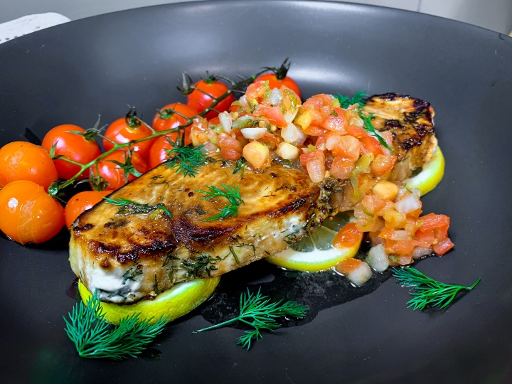 Swordfish With Fresh Tomato Salsa